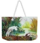 White Egret Swamp Weekender Tote Bag