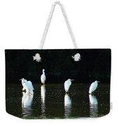 White Egrets Weekender Tote Bag