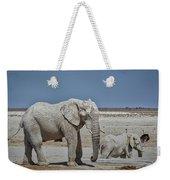 White Elephants Weekender Tote Bag