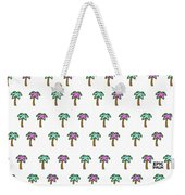 White Epic Palm Tree Print Weekender Tote Bag