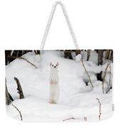 White Ermine Weekender Tote Bag