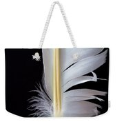 White Feather Weekender Tote Bag by Bob Orsillo