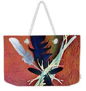 White Feather Weekender Tote Bag