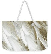 White Feathers With Gold Weekender Tote Bag