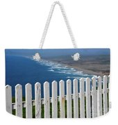 White Fence And Waves Weekender Tote Bag