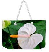 White Flamingo Flower Weekender Tote Bag