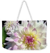 White Floral Art Bright Dahlia Flowers Baslee Troutman Weekender Tote Bag