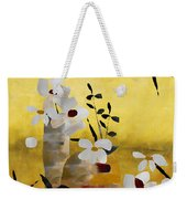 White Floral Collage II Weekender Tote Bag
