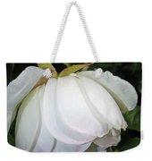 White Floral Weekender Tote Bag