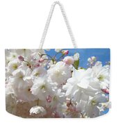 White Floral Tree Flower Blossoms Art Baslee Troutman Weekender Tote Bag