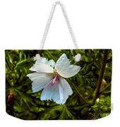 White Flower Weekender Tote Bag
