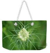 White Flower Spidery Leaves Weekender Tote Bag