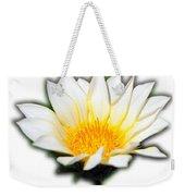 White Flower T-shirt Weekender Tote Bag