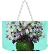White Flowers In A Vase Weekender Tote Bag