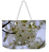 White Flowers On A Tree Weekender Tote Bag