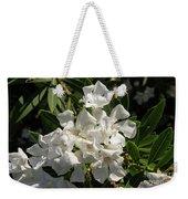 White Flowers On Green Leaves Weekender Tote Bag