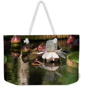 White Giant Water Lily Weekender Tote Bag