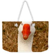 White Goose Close Up 1 Weekender Tote Bag
