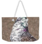 White-gray Pigeon Profile Weekender Tote Bag