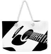 White Guitar 4 Weekender Tote Bag