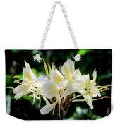 White Hawaiian Flowers Weekender Tote Bag