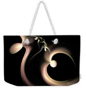 White Heart In Abstract Weekender Tote Bag