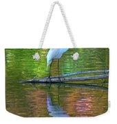 White Heron Weekender Tote Bag