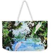 White Herons Weekender Tote Bag