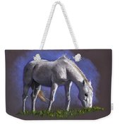 White Horse Grazing Weekender Tote Bag
