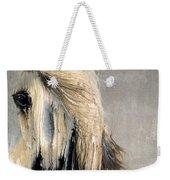 White Horse On Silver Leaf Weekender Tote Bag