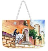 White Horses By The Cathedral In Palma De Mallorca 02 Weekender Tote Bag