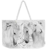 White Horses No 01 Weekender Tote Bag