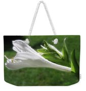 White Hosta Flower 46 Weekender Tote Bag