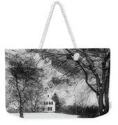 White House In Winter Weekender Tote Bag
