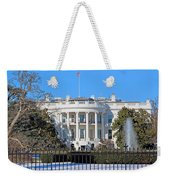White House South Lawn With Snow Weekender Tote Bag