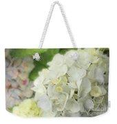White Hydrangea At Rainy Garden In June, Japan Weekender Tote Bag