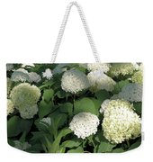 White Hydrangea Bush Weekender Tote Bag
