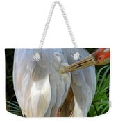 White Ibis At The Zoo Weekender Tote Bag