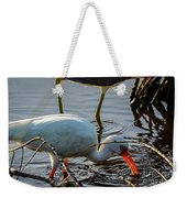 White Ibis Eating Weekender Tote Bag