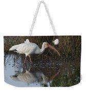 White Ibis Feeding Weekender Tote Bag