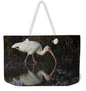 White Ibis Feeding In Morning Light Weekender Tote Bag
