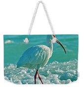 White Ibis Paradise Weekender Tote Bag