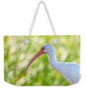 White Ibis Portrait Weekender Tote Bag