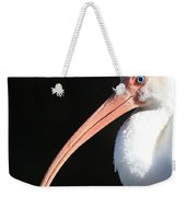 White Ibis Profile Weekender Tote Bag