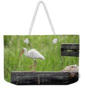White Ibis Stepping Out Weekender Tote Bag