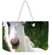 White Indian Pony Weekender Tote Bag