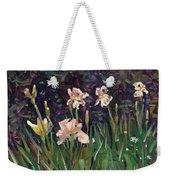 White Irises Weekender Tote Bag