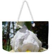 White Iris Flower Art Prints Canvas Irises Artwork Weekender Tote Bag