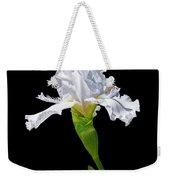 White Iris On Black Background Weekender Tote Bag