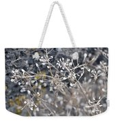 White Irish Flower Weekender Tote Bag
